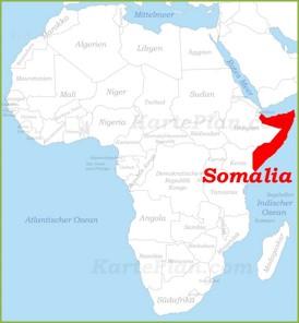 Somalia auf der karte Afrikas