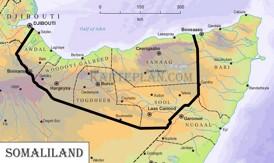 Physische landkarte von Somaliland