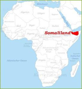 Somaliland auf der karte Afrikas
