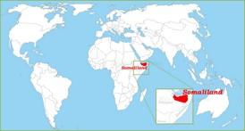 Somaliland auf der Weltkarte