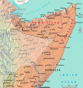 Somaliland politische karte