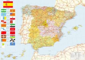 Große detaillierte karte von Spanien