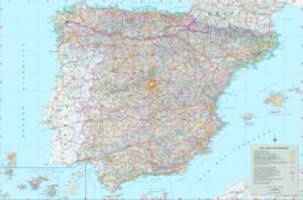 Große touristische karte von Spanien
