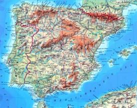 Spanien karte mit städten