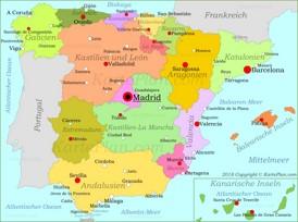 Spanien politische karte