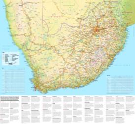 Große touristische karte von Südafrika