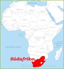 Südafrika auf der karte Afrikas
