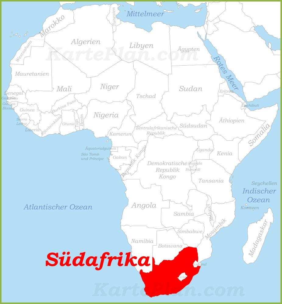 Südafrika Karte.Südafrika Auf Der Karte Afrikas