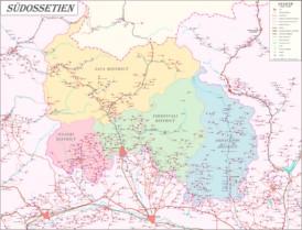 Große detaillierte karte von Südossetien