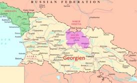 Südossetien auf der karte Georgiens