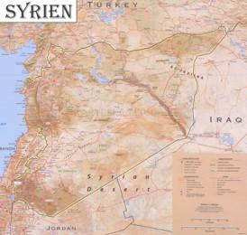 Große detaillierte karte von Syrien