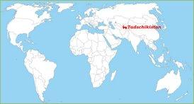 Tadschikistan auf der Weltkarte