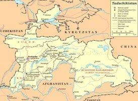 Tadschikistan politische karte
