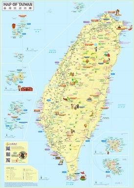 Taiwan touristische karte