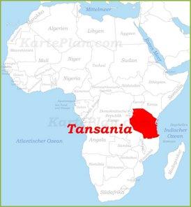 Tansania auf der karte Afrikas