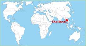 Thailand auf der Weltkarte
