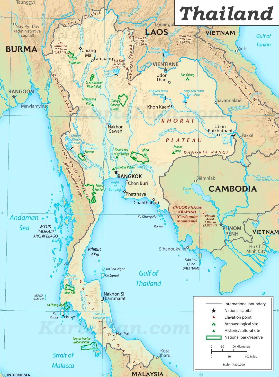 Thailand Sehenswurdigkeiten Karte