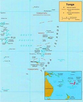 Tonga politische karte