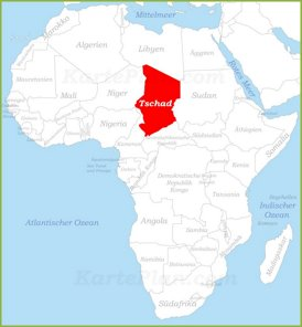 Tschad auf der karte Afrikas