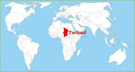 Tschad auf der Weltkarte