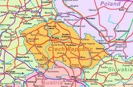 Schienennetz Karte von Tschechien