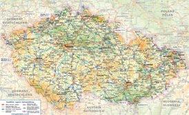 Straßenkarte von Tschechien
