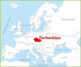 Tschechien auf der karte Europas