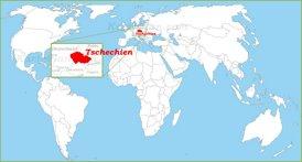 Tschechien auf der Weltkarte