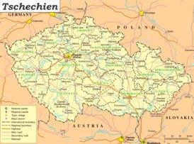 Tschechien politische karte