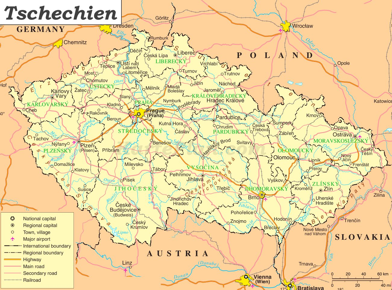 Tschechien Karte