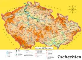 Tschechien touristische karte