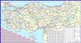 Straßenkarte von Türkei