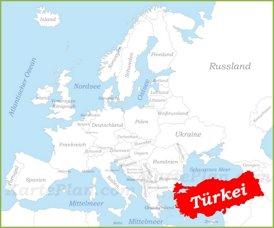 Türkei auf der karte Europas