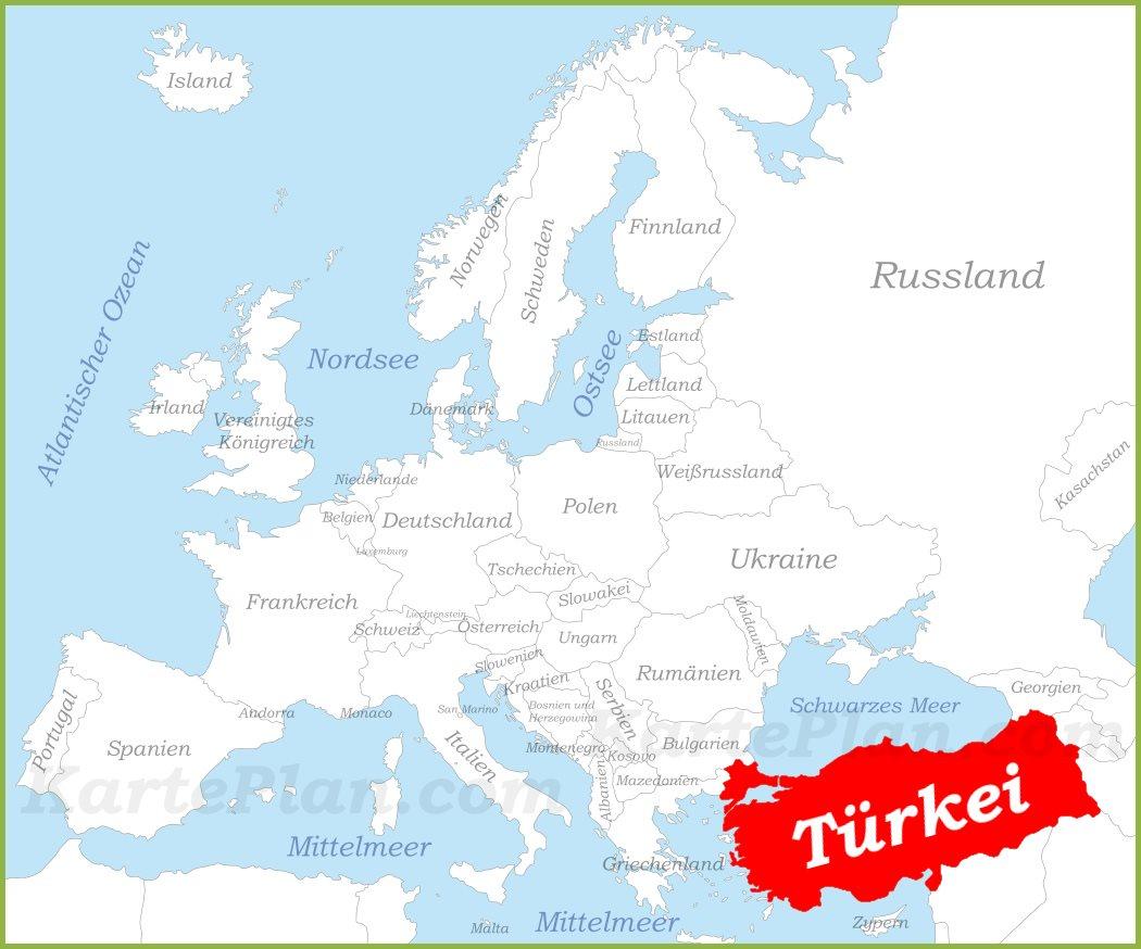 Turkei Auf Der Karte Europas