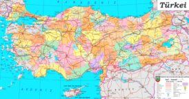 Türkei politische karte