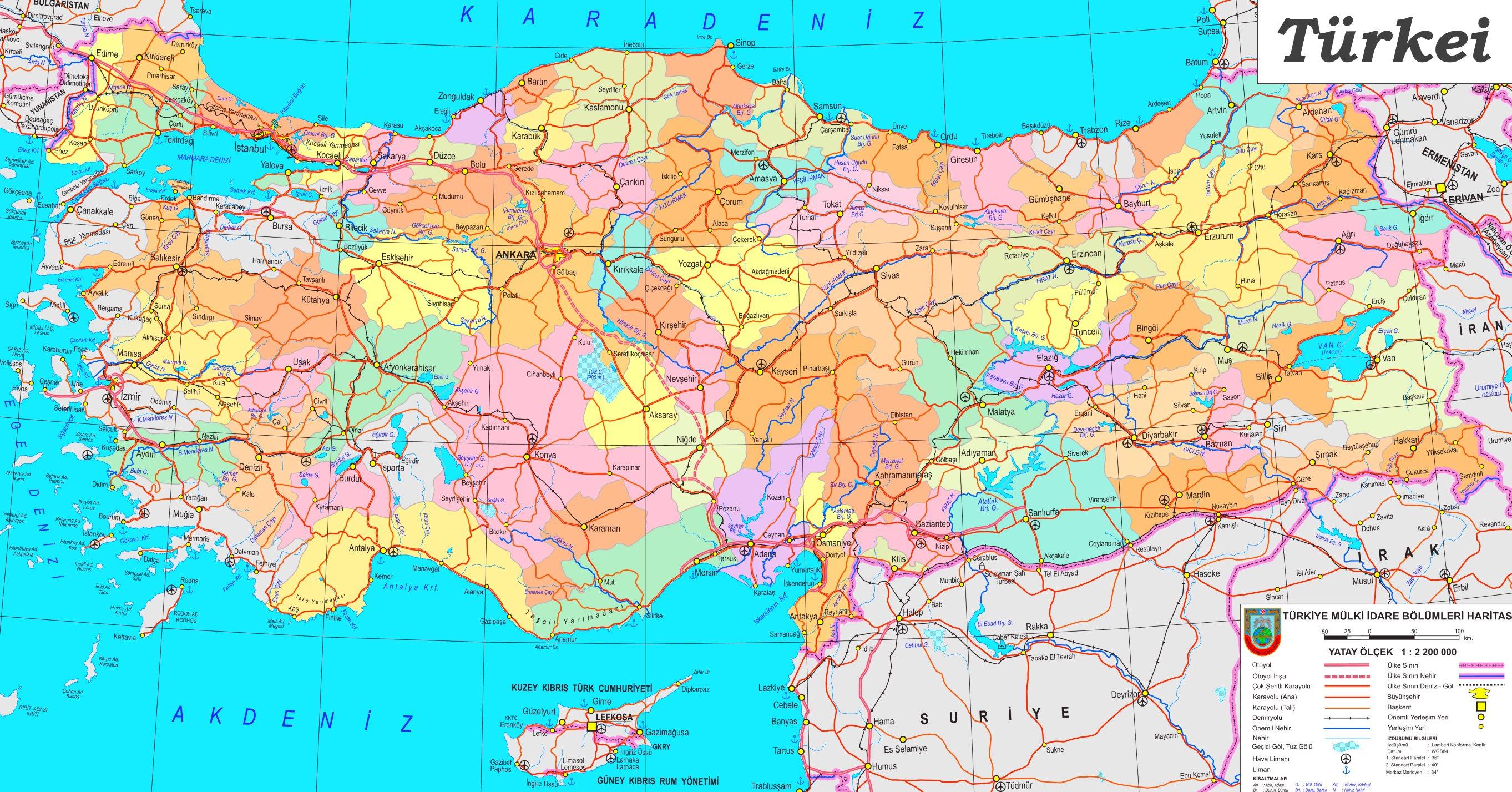 Turkei Politische Karte