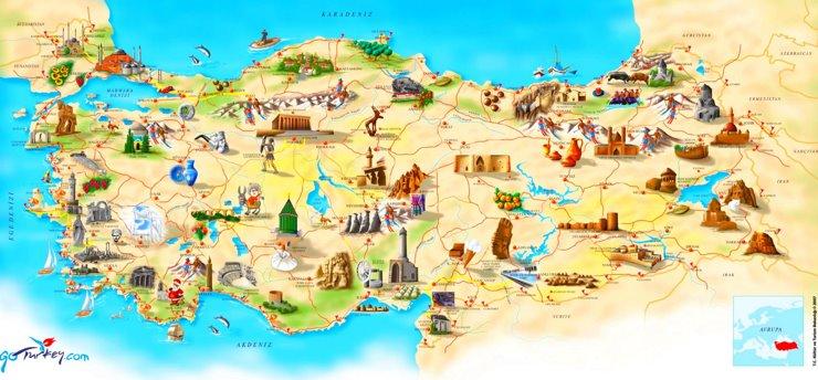 Türkei touristische karte
