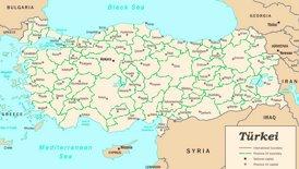 Verwaltungskarte von Türkei