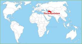 Turkmenistan auf der Weltkarte