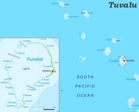 Physische landkarte von Tuvalu