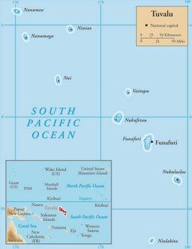 Tuvalu politische karte
