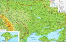 Straßenkarte von Ukraine