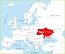 Ukraine auf der karte Europas