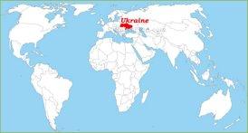 Ukraine auf der Weltkarte