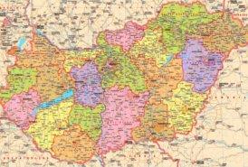 Große detaillierte karte von Ungarn