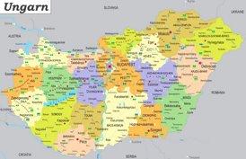 Ungarn politische karte