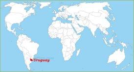 Uruguay auf der Weltkarte