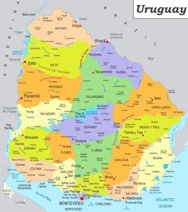 Uruguay politische karte