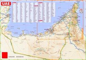 Vereinigte Arabische Emirate touristische karte