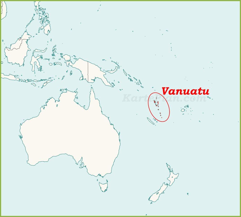 Vanuatu Auf Der Karte Ozeaniens